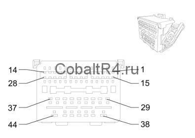 Разъем подключения магнитолы Chevrolet Cobalt LTZ и Ravon R4