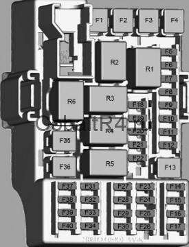 Схема реле Chevrolet Cobalt и Ravon R4